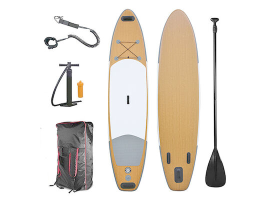 5.4 Ft 335cm Bamboo Inflatable Stand Up Paddle Board