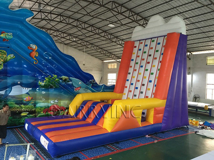 Inflatable Interactive Games Portable Mobile Rock Climbing Wall For Amusement Park